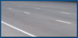 Striping-tape applications, grooved in pavement markings, thermoplastic, 3M tape
